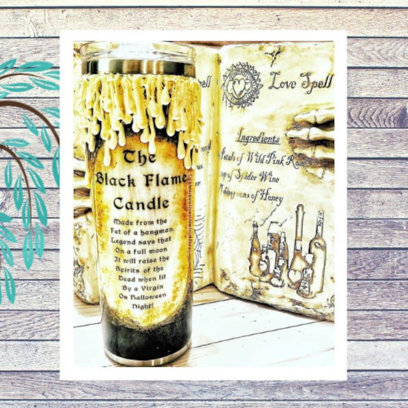 Black Flame Candle Tumbler image 0