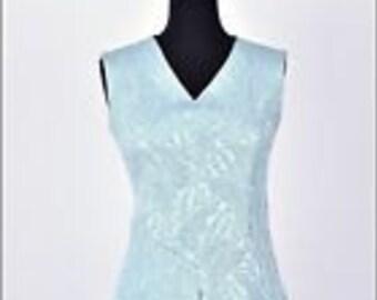 Vintage 60s blue glitzy textured cocktail mini mod shift dress
