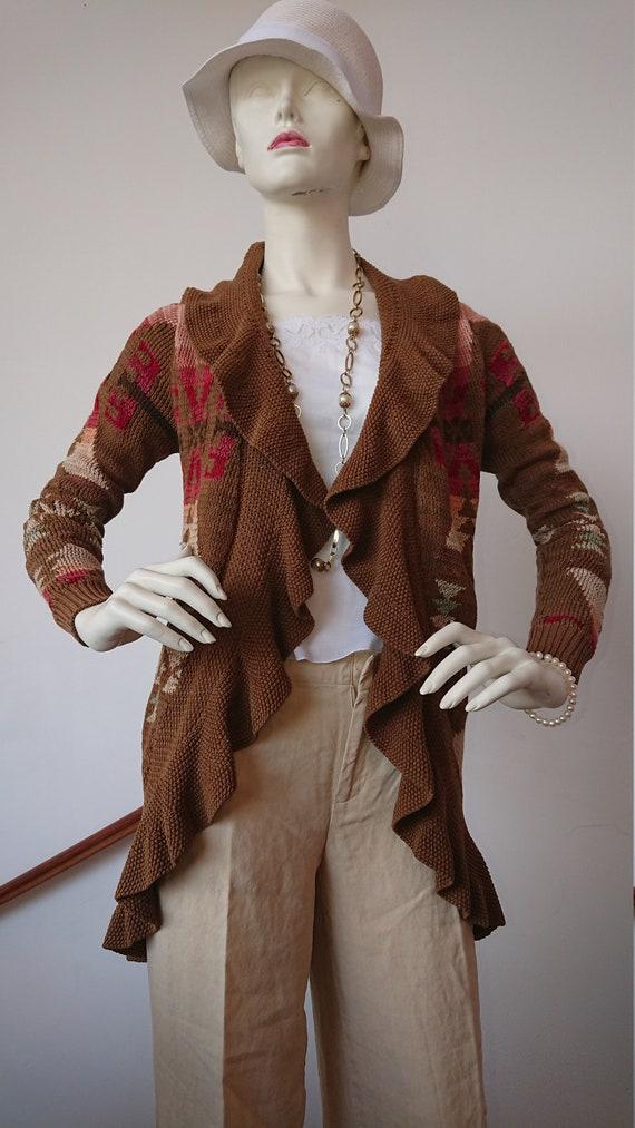 RALPH LAUREN Vintage Cardigan Aztec country hand k