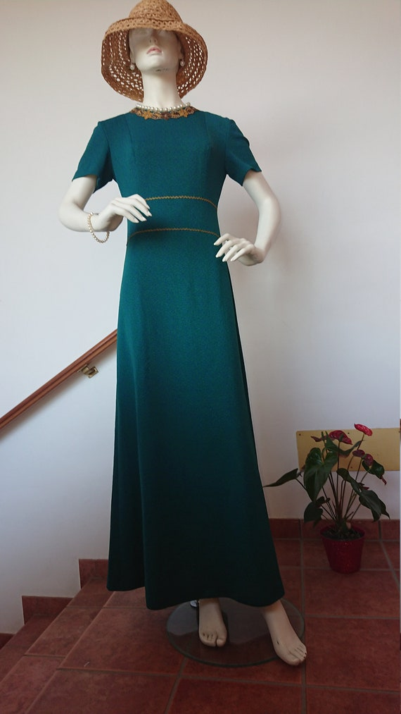 1960s GORGEOUS Jersey Long Dress, made in France