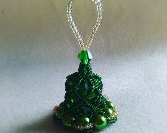 Handmade Crystal and Purl Bell