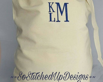 Personalized Laundry Bags, College Laundry bag, Monogrammed Laundry Bags, Graduation Gifts, High School Senior Gifts, Summer Camp Bag