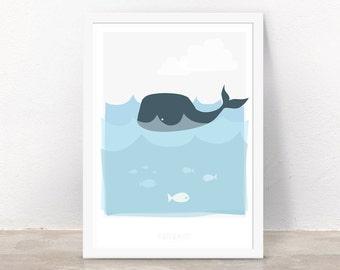 Art Print - Whale