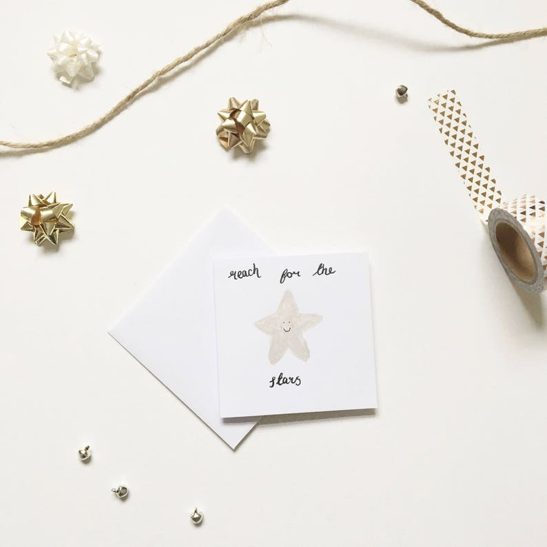 Reach for the Stars Mini Good Luck Card