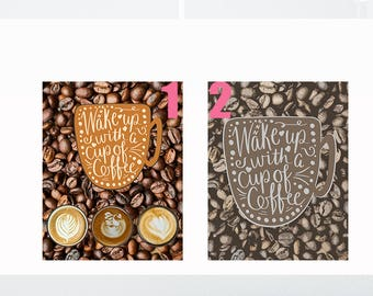 Rustic Coffee Sign, Kitchen Sign Coffee Decor, Coffee Print Coffee Gift, Coffee Wall Art, Coffee Lovers Gift, Kitchen Coffee Sign Food Print