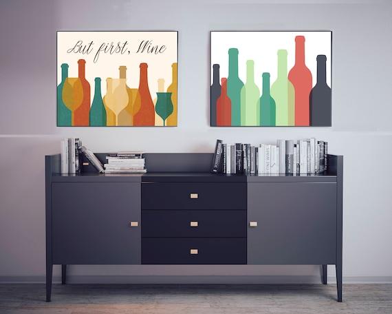 Modern Wine Bottle Decor, Colorful Wine Bottle Poster, Wine Poster Wine  Kitchen Decor, Wine Print Wine Wall Art, Wine Decor, Wine Wall Decor