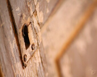 NewShopSale Bienvenue dans mon jardin secret, ancien porte photo print - porte vintage fine art mur décoration rouille brun bronze salle de bain maison