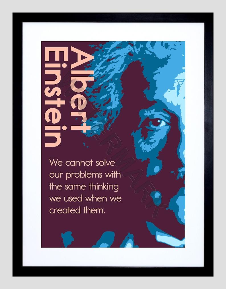 Albert Einstein Quote Einstein Print Inspirational Quote Etsy