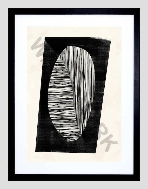 Art Abstrait Noir Impression Minimaliste Abstrait Moderne Etsy