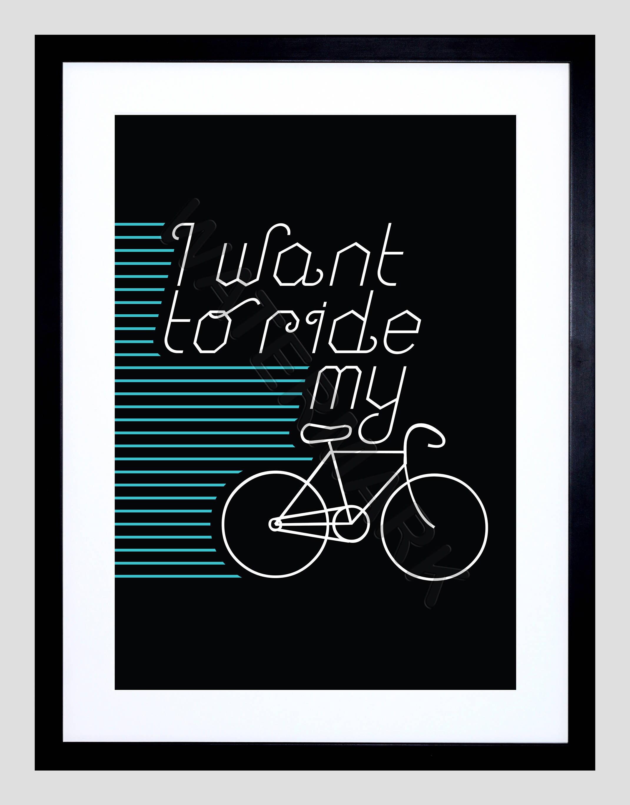 Radfahren Zitat Druck Fahrrad-Druck Fahrrad Angebot Fahrrad | Etsy