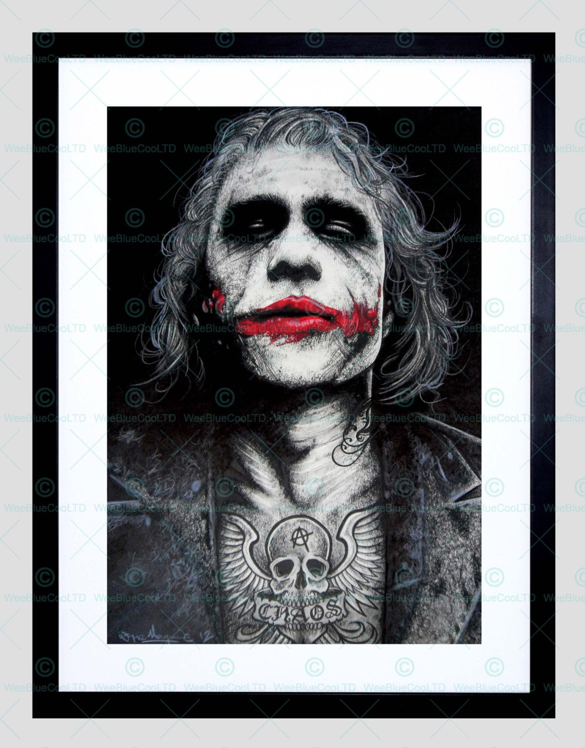 da46d9ffe The Joker / Heath Ledger / Batman / Tattoo / Inked Icon / | Etsy