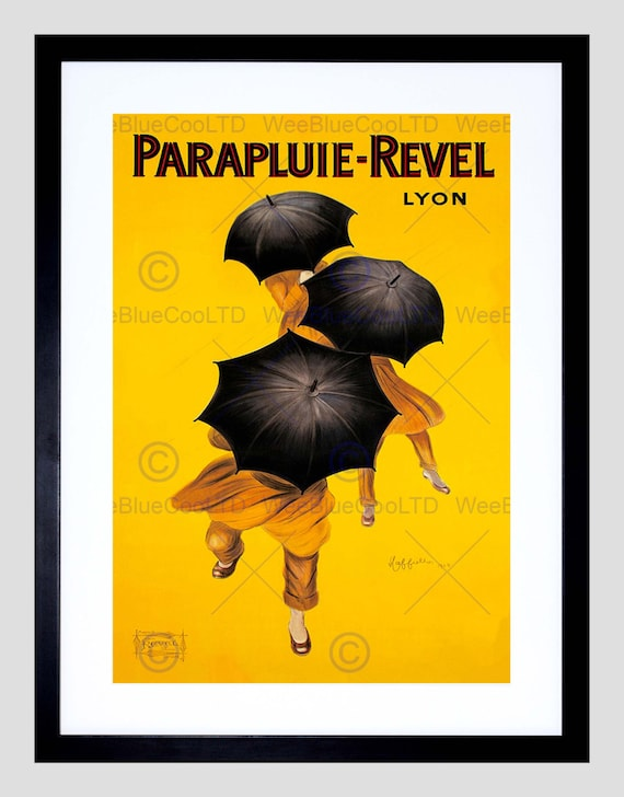 annonce parapluie vent pluie m t o revel lyon france art print etsy. Black Bedroom Furniture Sets. Home Design Ideas