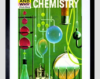 Kids Book Cover Chemistry Experiment Laboratory Children How Why Usa Print FECC318