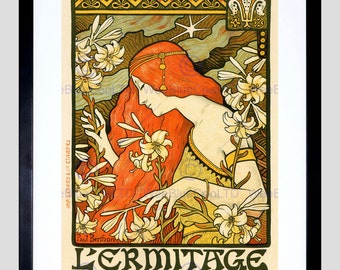 Advert Berthon Revue L'Ermitage Paris France Poster Art FE835PY