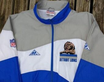 0caf3243b Vintage 90 s Detroit Lions Authentic Pro Line by Apex One XXL heavy  windbreaker type jacket