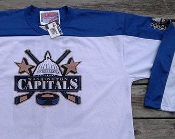 eb9cfd58928 Vintage DEADSTOCK Washington Capitals Jaromir Jagr  68 hockey mesh jersey XL