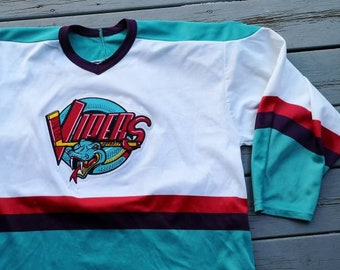 Vintage 90 s Detroit Vipers IHL hockey jersey Made in Canada by Bauer f62169e1c