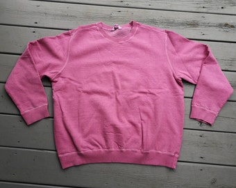 58298211db68 Perfectly faded 80 s   90 s Pink Purple Pastel Grungy Crewneck Sweatshirt  Northern Reflections Made in Canada Small