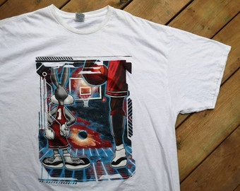 278b807cd37c0b Vintage 90 s Space Jam   Michael Jordan   Bugs Bunny t-shirt XXL