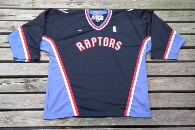 baf70d3db Vintage Toronto Raptors Nike Hockey Jersey large NBA Black