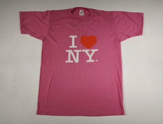 "Vintage Classic 80's ""I Love NY"" New York Pink Pap"