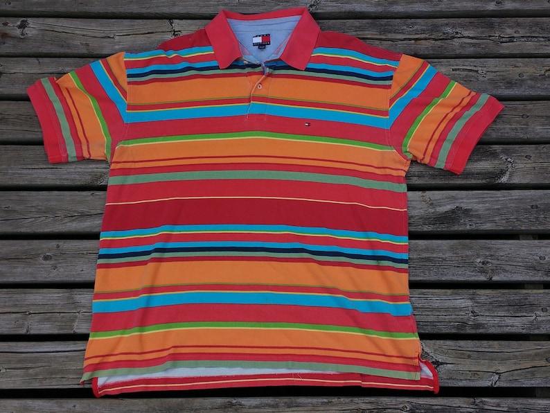 72354ba64 Vintage 90's Crazy Colourful Rainbow Pastel Tommy Hilfiger | Etsy
