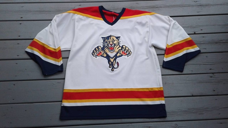 f90d9f1a1 Vintage 90 s Florida Panthers NHL hockey jersey CCM Maska