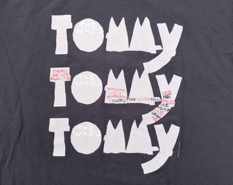 Vintage & Original 1993 / 30th anniversary THE WHO's Tommy the Musical double-sided t-shirt Made in Canada Fruit of the Loom Large