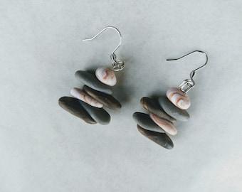 Stack stone earrings