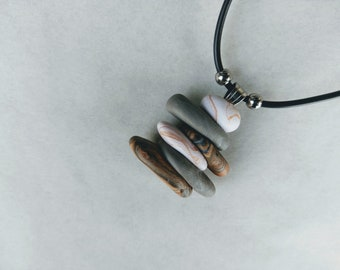Stack stone necklace