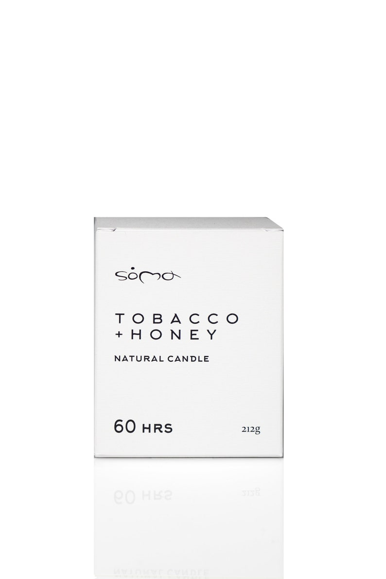 60HRS Tobacco Honey Soy Candle Philosophical Candles Gift image 0