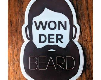 Wonderbeard | Beard Sticker | Vinyl Decal