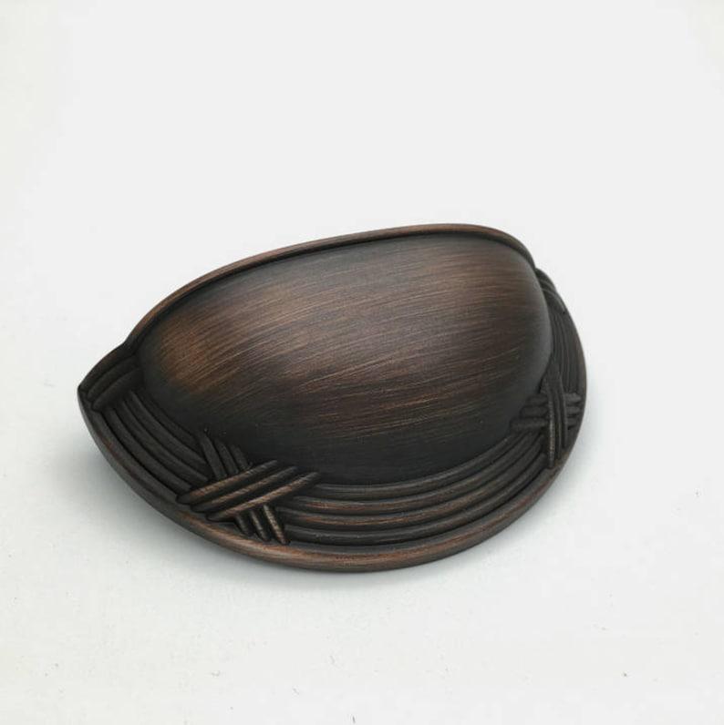 Bin Dresser Pulls Drawer Pull Handles Knobs Bronze Cup Shell Retro  Kitchen Cabinet Door Handle Pull Furniture Hardware