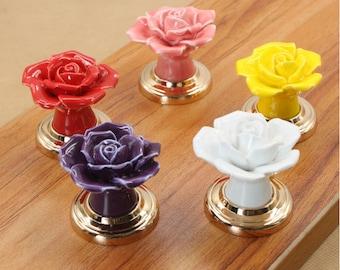 Flowers---Kid's Dresser Handle Door Knob / Cabinet Handle Door Pull Dresser Knob Furniture Hardware