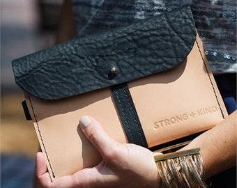 Leather Wristlet / Wristlet Wallet / Clutch Purse