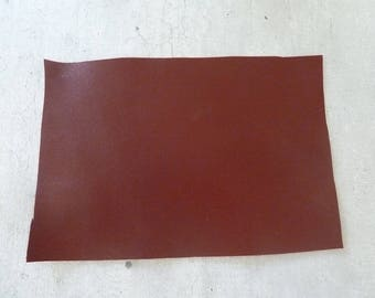 rectangle Brown Burgundy leather 10 x 15 cm