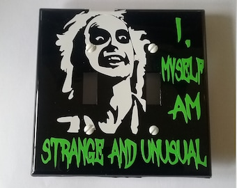 BEETLEJUICE Double Light switch cover. Standard double light switch cover. VERY FUNNY!