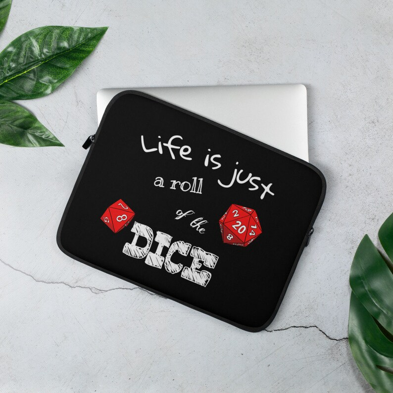Laptop Sleeve  Roll of the dice  dungeons and dragons image 0