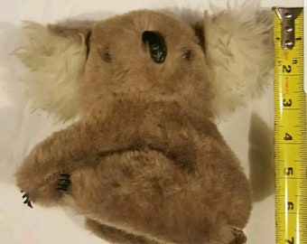 1976 GUND Koala Bear Plush Toy Stuffed Animal 70s 1970s Plushie Plastic Claws