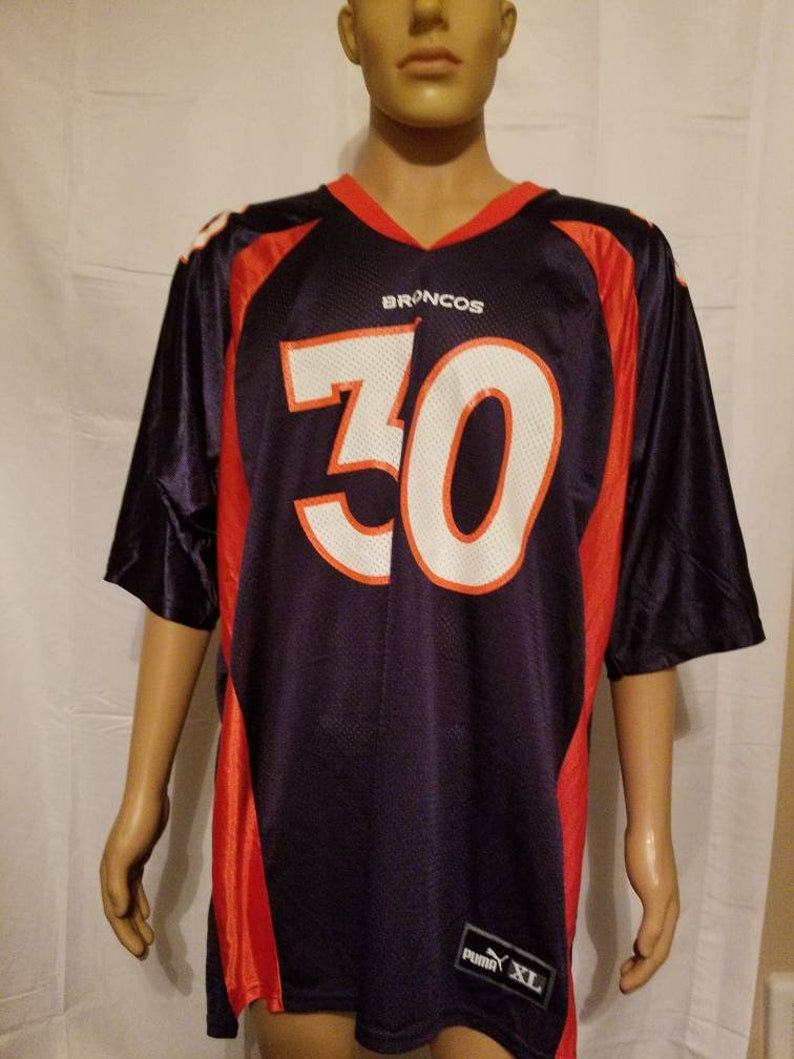 more photos 34986 3ea83 Denver Broncos Vintage Terrell Davis Football Jersey NFL Hall of Famer Navy  Orange Mens Size XL Made in USA Puma excellent used condition
