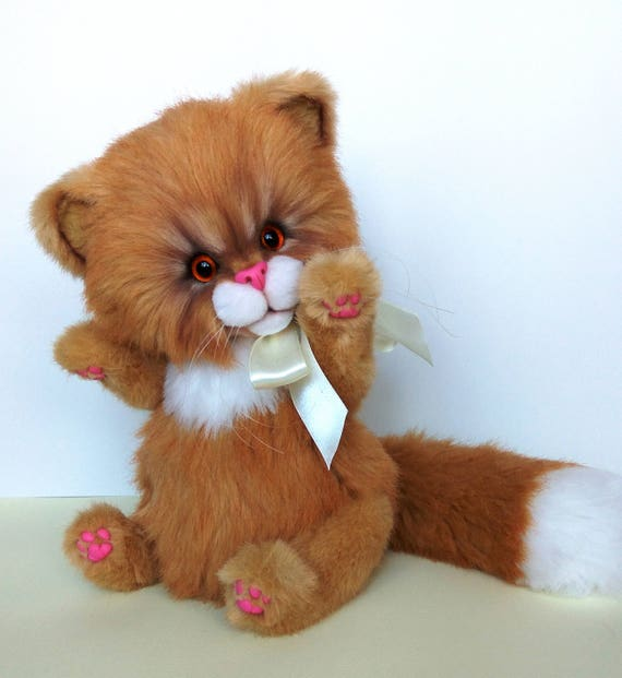 d87e36c2265f Teddy Cat Junior 115 Handmade OOAK Artist toy