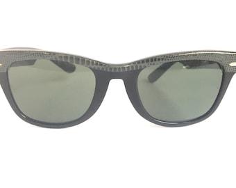 5ffe107d61 Vintage RAY BAN USA Wayfarer Sonnenbrillen eyewear sunglasses Snakeskin B    L 5022