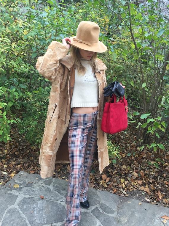 Vintage 70s Lambskin Coat Leather coat 70s Turnin… - image 8