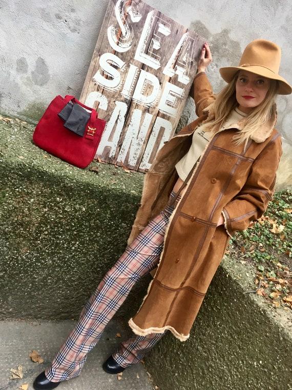 Vintage 70s Lambskin Coat Leather coat 70s Turnin… - image 5
