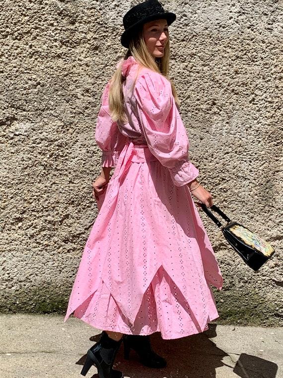 Vintage Lorenzo Bandini Roma rose Dirndl dress el… - image 3