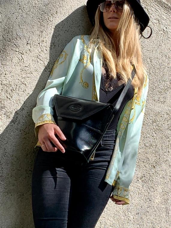 Vintage Gucci Bucket leather bag in Black