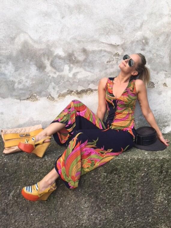 Vintage De Parasini Silk jumpsuit jumpsuit jumpsui