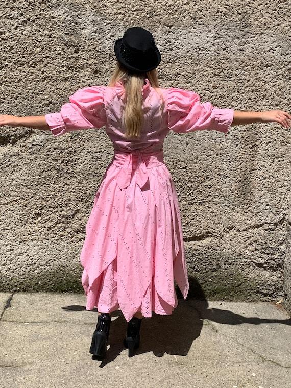 Vintage Lorenzo Bandini Roma rose Dirndl dress el… - image 6
