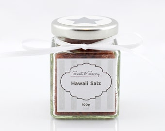 Hawaiian red salt, Hawaii Aalen, 100 g, gourmet salt, salt, ideal as a gift for grilling cooking for him and her