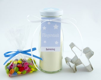 4.94 Euro/100g gift set fliers, baking mix with cookie cutter as airplane, baking mix for butter cookies, gift